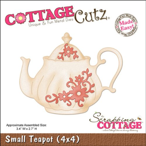 CottageCutz Die Cuts, 4 by 4-Inch, Small Teapot Made Easy