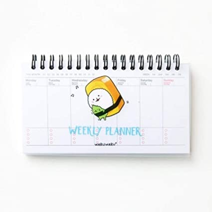 Amazon.com : Sushi weekly planner Mini spiral notebook ...