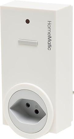Homematic 141134A0 Funk-Schaltaktor 1-Fach mit Leistungsmessung, Zwischenstecker, Typ J (Schweiz)