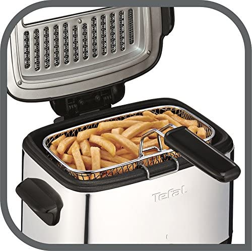 Tefal FF220040 Mini Deep Fryer, (2 Portions), 0.6 Kg Capacity, 1000 W, Stainless Steel