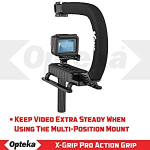 Opteka X-GRIP H-MOD Professional Stabilizing Handle for GoPro Action Cameras (Black)