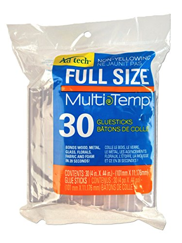 Price comparison product image Adhesive Technologies 220-14ZIP30 Multi Temp Full Size Glue,  4-Inch,  30-Pack
