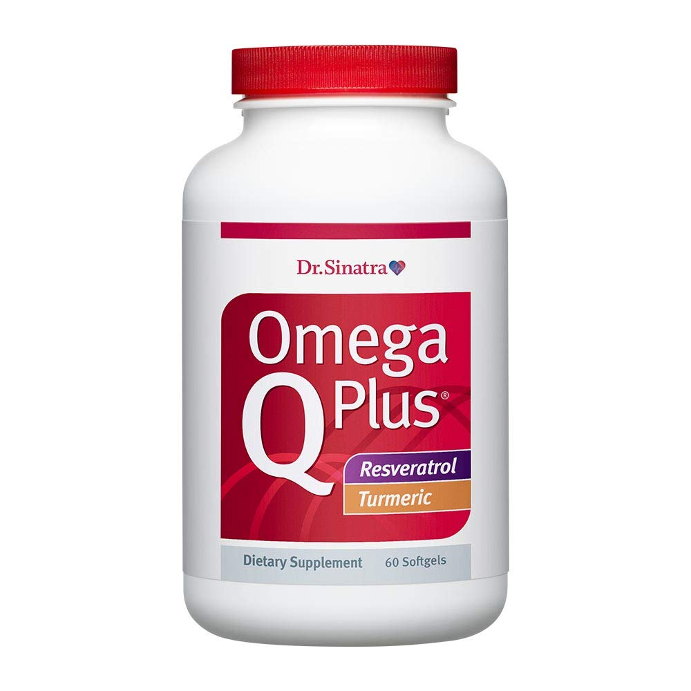 Dr. Sinatra's Omega Q Plus® Resveratrol and Turmeric – Omega-3 Supplement with CoQ10 Support for Healthy Blood Flow, Blood Pressure, and Healthy Inflammatory Response with Resveratrol and Turmeric