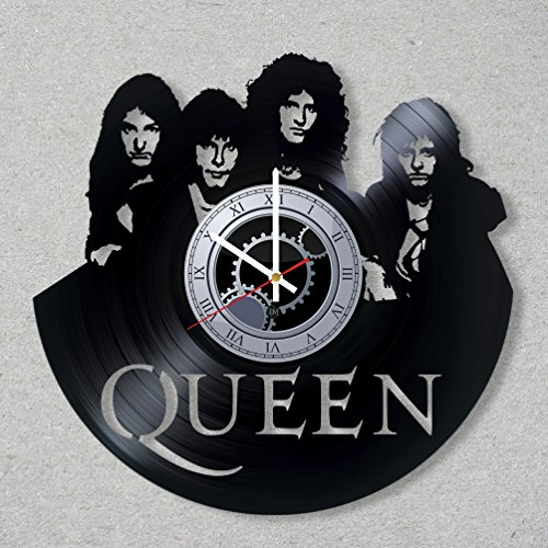 Vinyl Record Wall Clock Queen Rock Band Music Freddie Mercury Legend decor unique gift ideas for friends him her boys girls World Art Design Review