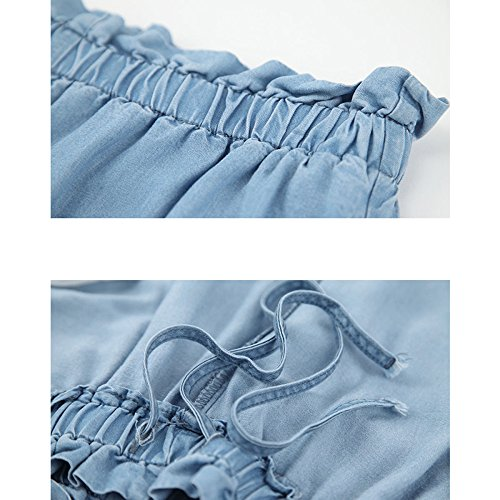 Da Donna A Lunghi Pantaloni Per Donna Lunga Jeans In Pantaloni Blue2 Gamba Denim Blu 5dw46Xdx