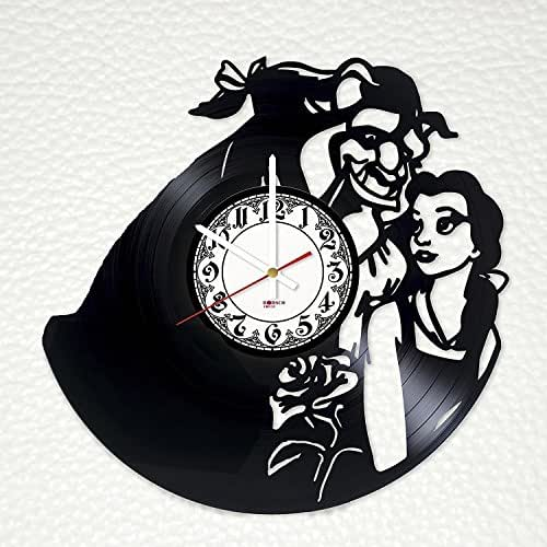 Beauty And The Beast Unique Couple Tattoos: Amazon.com: Beauty And The Beast Design Vinyl Record Wall