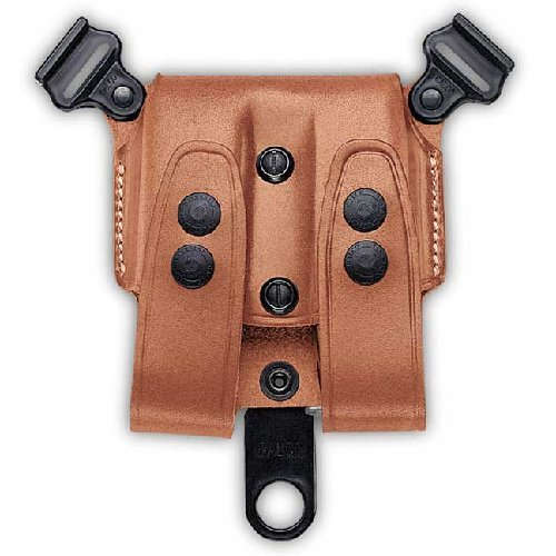 Galco SCL24 SCL Double Magazine Case For Shoulder System, Staggered Polymer, Ambidextrous, Tan (Magazine Case Double Galco)