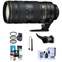 Nikon AF-S NIKKOR 70-200mm f/2.8E FL ED VR Lens - U.S.A. Warranty - Bundle with 77mm Filter Kit, Flex Lens Shade, Cleaning Kit, Cap Leash, Software Package