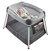 Fisher-Price Ultra-Lite Day & Night Play Yard, Gray