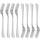 Dinner Forks, MCIRCO 18/10 Heavy-duty Stainless Steel Dinner Forks Set of 8, 8 Inches