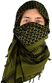 Mato & Hash Military Shemagh Tactical 100% Cotton Scarf Head Wrap - Olive Drab CA