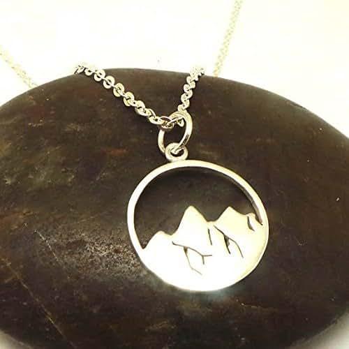 handmade 925 sterling silver mountain necklace. Black Bedroom Furniture Sets. Home Design Ideas