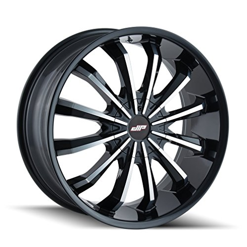 DIP FUSION Gloss Black/Machined Face Wheel with Painted Finish (22x9.5 5x115 / 5x120, 18mm Offset) (Magnum Dodge 22 Rims)