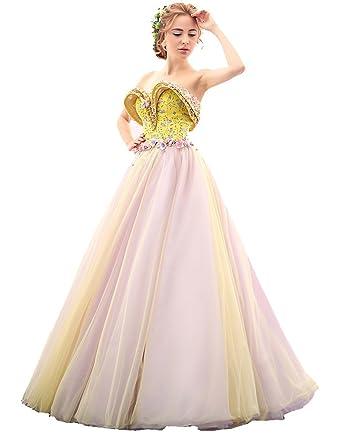 Beauty-Emily Tunnelzug Prinzessin Liebsten weg von der Schulter Ärmelloses  Kleid  Amazon.de  Bekleidung 385b361aba