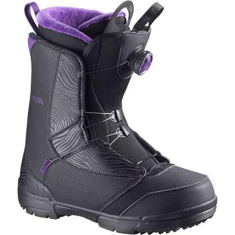 Salomon Pearl Boa Women's Snowboard Boots Black/Grape Juice 4 - Pearl Womens Snowboard Boots