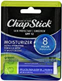 ChapStick SPF 12 Sunscreen, Moisturizer and Skin Protectant,Green Apple 0.15 oz. Stick (Pack of 6)