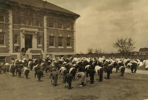1917 child labor photo Calesthenics I.e., calisthenics Every day, every schoo f1