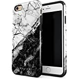 BURGA iPhone 6 Plus iPhone 6s Plus Case Fatal Contradiction Black And White Marble Yin And Yang Heavy Duty Shockproof Dual Layer Hard Shell + Silicone Protective Cover