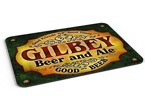 Gilbey Beer & Ale Mousepad/Desk Valet/Coffee Station Mat