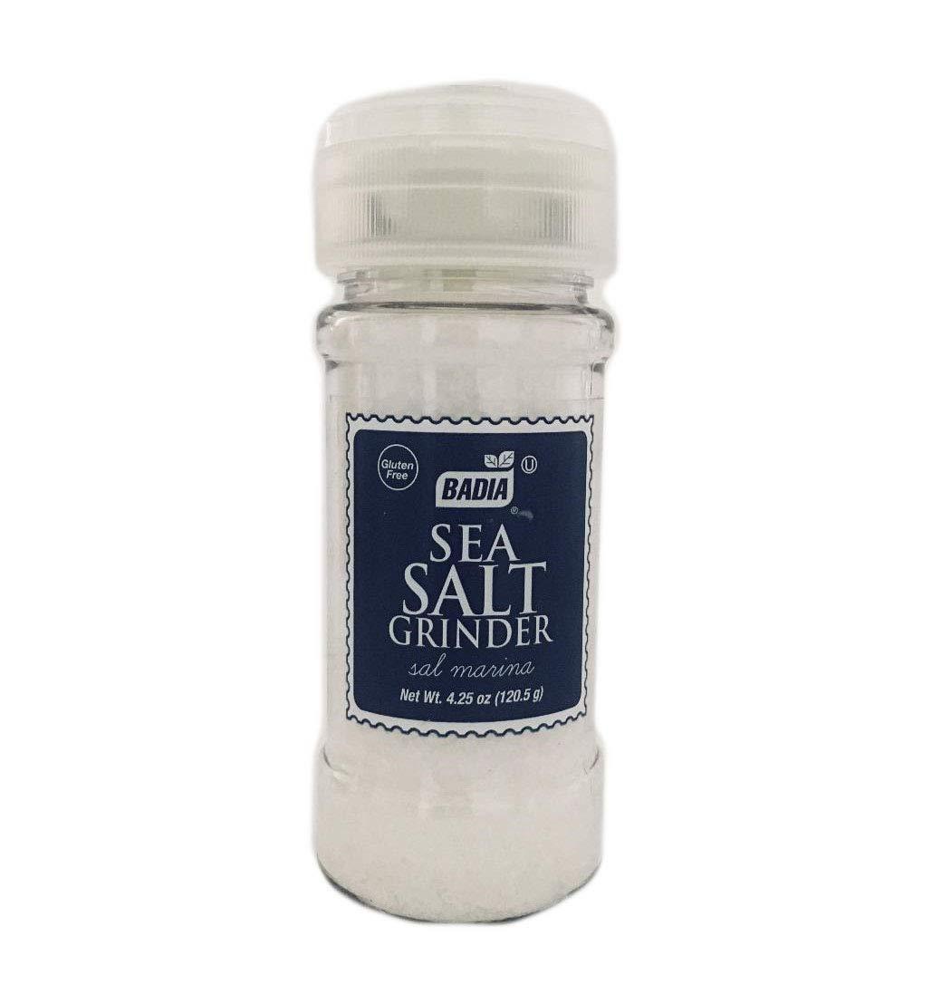 4.25 oz Grinder Sea Salt Coarse/Sal Marina Gruesa de Mar Molino Kosher