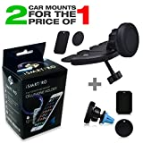 iSMARTPRO Car Mount Cell Phone Holder Bundle For Apple & Android Phones And Tablets