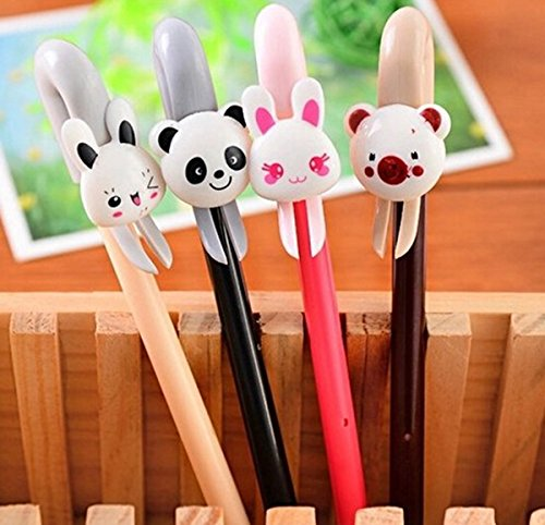 NiceGirl(TM) 8 Set of Korean Cute Creative Animal Kawaii Colorful Gel Ink Pen/ball Point/ Rollerball Pens with Refills