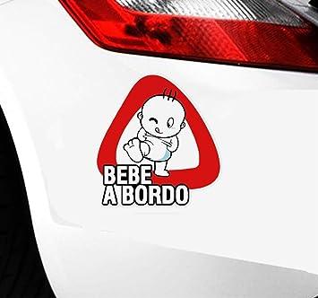 Aufkleber Sticker Auto 14x15cm Baby An Bord Bebe A Bordo Auto Aufkleber Für Auto Laptop Fenster Aufkleber Baumarkt