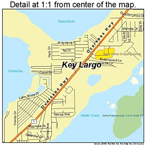 Detail Map Of Florida.Amazon Com Large Street Road Map Of Key Largo Florida Fl