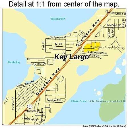 Amazon.com: Large Street & Road Map of Key Largo, Florida FL ... on