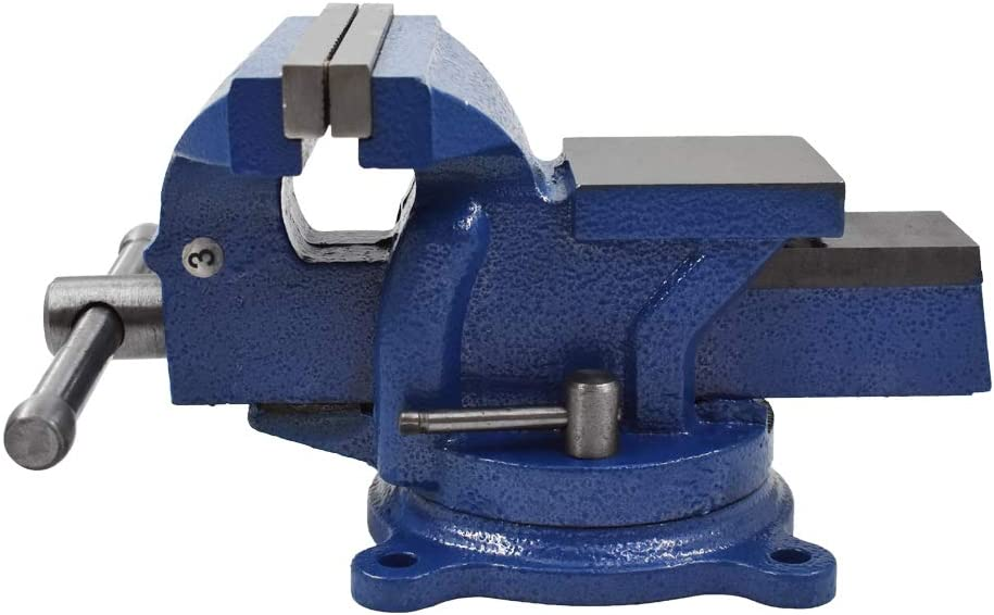 Heavy Duty Bench Vise 360 Swivel Base with Lock, Big Size Anvil Top (6'')
