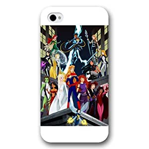UniqueBox Customized Disney Series Phone Case for iPhone 4 4S, Disney Princess iPhone 4 4S Case, Only Fit for Apple iPhone 4 4S (White Frosted Shell)
