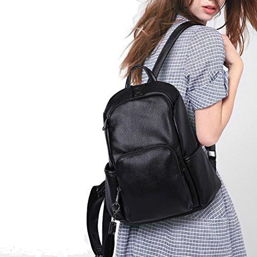 QXMEI Daypack Sac Womens Occasionnel à Pour Sac à Bandoulière Fashion Sac Filles Cuir Dos Les à Black PU Main En rtrZwq