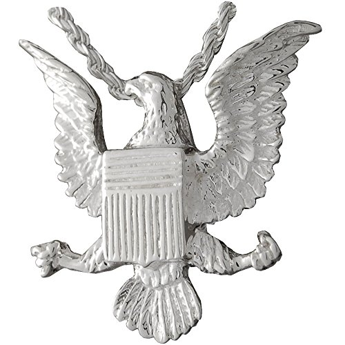 - Memorial Gallery 3047s Eagle Badge Sterling Silver Cremation Pet Jewelry