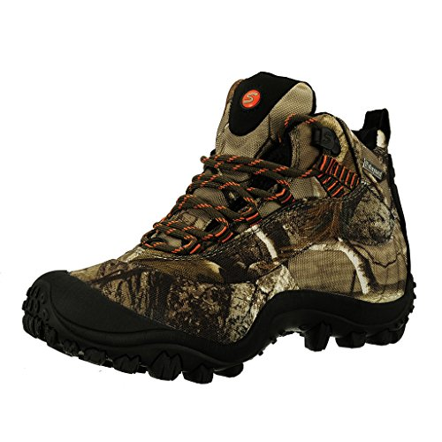 Manfen Women's Mid-Rise Waterproof Hiking Boot (US 8, CAMO 2)