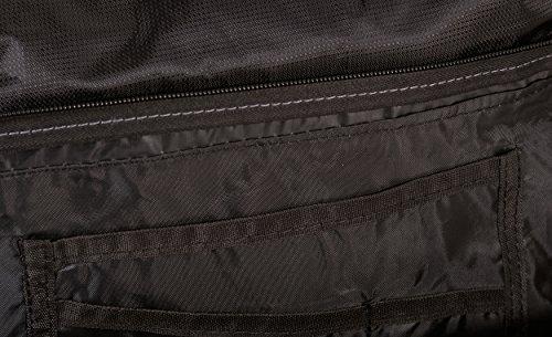 Silver Rock - Bolso al hombro para hombre negro/rojo mediano