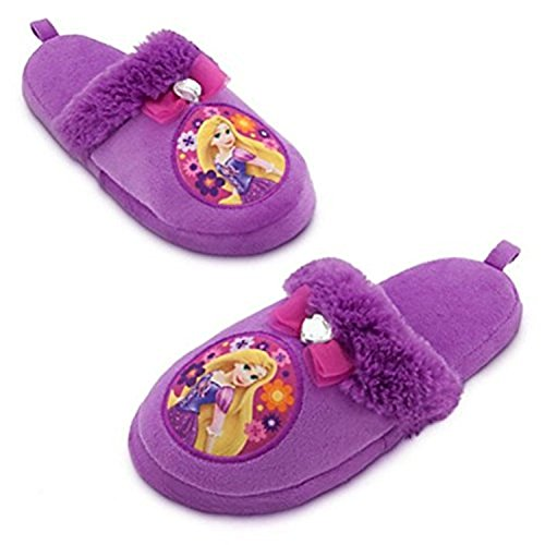Disney Store Princess Tangled Rapunzel Girl Slippers Shoes Size 11/12]()