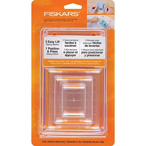 Fiskars 106150-1001 Clear Stamp Block Set (4 Piece)