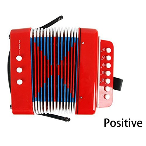 SODIAL Kids Accordion Enlightenment instruments Red