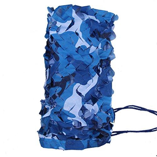 腐った悪意結果Mtef アウトドア カモフラージュネット 偽装網 迷彩柄 キャンプ ハンティング シューティング 日焼け止めネット ブルー 1x2m 1.5x4m 2x3m 3x3m 3x4m 4x5m 5x6m 6x6m 2x8m 1つのパック