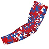 New! Royal Blue Red White Digital Camo Arm Sleeve - Moisture Wicking Compression