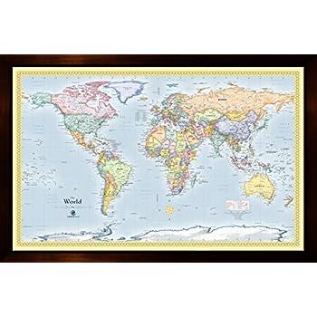 Amazon homemagnetics mm3624wld magnetic travel map of the world homemagnetics 37 x 25 blue world magnetic map gumiabroncs Choice Image