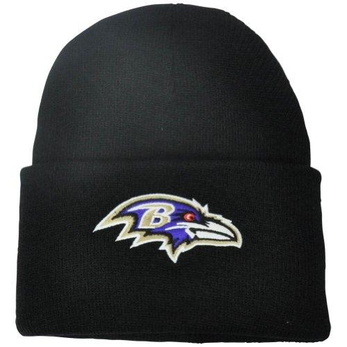 NFL Baltimore Ravens '47 Raised Cuff Knit Hat, Black, One Si