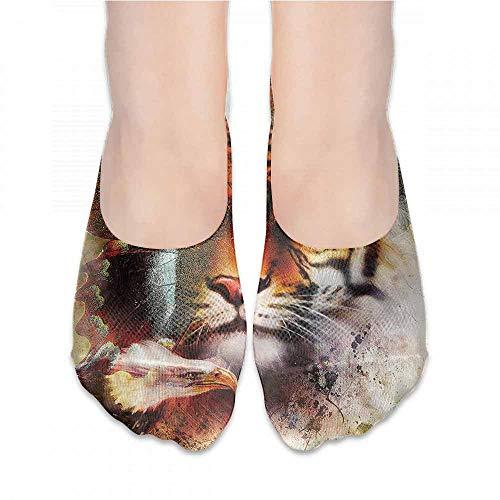 (New Short Socks Tiger,Artistic Nature Wildlife,socks men pack ankle)