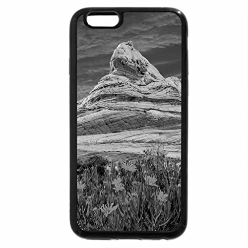 iPhone 6S Case, iPhone 6 Case (Black & White) - desert flowers by sandstone monuments