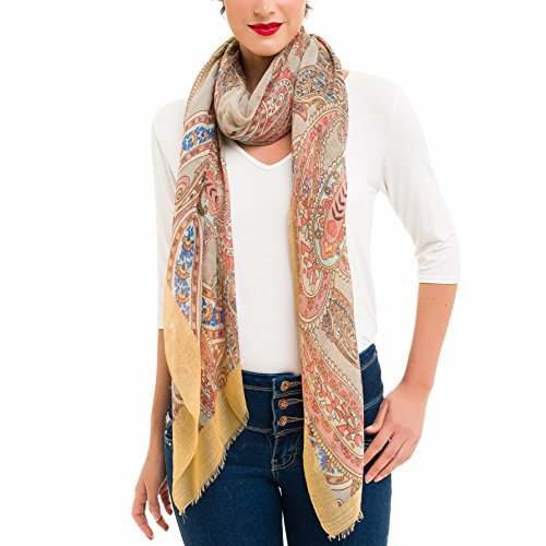 Scarf for Women Lightweight Paisley Fashion Fall Winter Scarves Shawl Wraps (SS36)