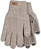 Kinco 5298 Alyeska Unlined Ragg Wool Full Finger Glove with PVC Grip Dots, Grey