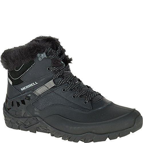 Merrell Women's Aurora 6 Ice + Waterproof Winter Boot, Black, 7.5 M US (Merrell Women Boots Winter)