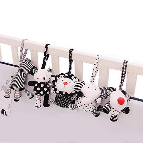 SHILOH Baby Crib Stroller Carseat Decoration 5PCS White & Black (Zoo -