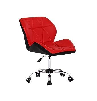 Silla oficina de trabajo decoración hogar altura ajustable deskchair 360 ° giratorio lujo piel sintética ergonómico ordenador silla con 5 ruedas | respaldo: ...