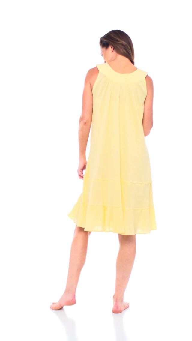 Anthony Richards Women's Crinkle Gauze Sun Dress - 100% Cotton Sleeveless Dress